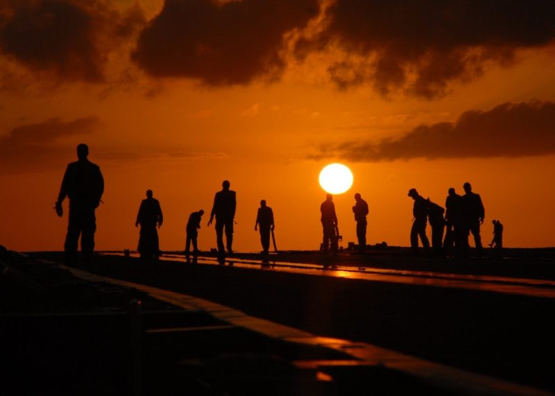 sunset-workers-outside